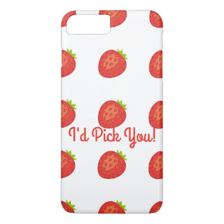 """I'd Pick You!"" Strawberry IPhone7+/8+Barely There iPhone 8 Plus/7 Plus Case"