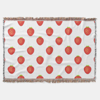 """I'd Pick You!"" Strawberry Throw Blanket"