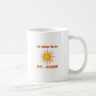 I'd Rarther Be in St. John Coffee Mug