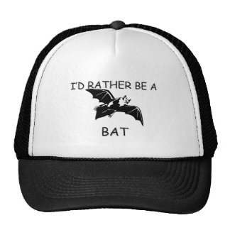 I'd Rather Be A Bat Hats