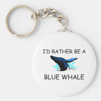 I'd Rather Be A Blue Whale Key Ring