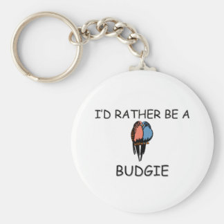 I'd Rather Be A Budgie Key Ring