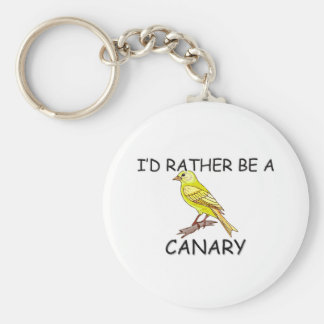 I'd Rather Be A Canary Basic Round Button Key Ring