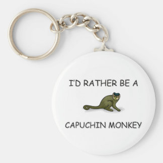 I'd Rather Be A Capuchin Monkey Basic Round Button Key Ring