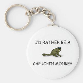 I'd Rather Be A Capuchin Monkey Key Ring