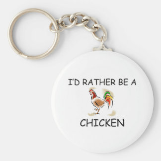 I'd Rather Be A Chicken Basic Round Button Key Ring