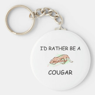 I'd Rather Be A Cougar Key Ring