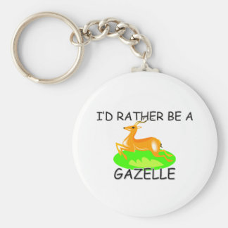 I'd Rather Be A Gazelle Basic Round Button Key Ring