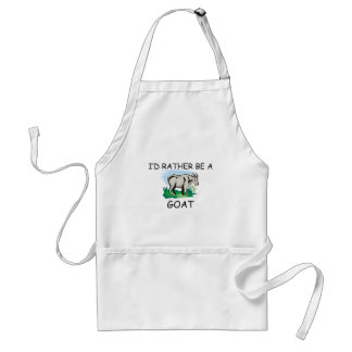 I'd Rather Be A Goat Standard Apron