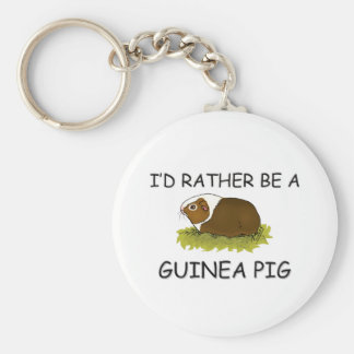 I'd Rather Be A Guinea Pig Basic Round Button Key Ring