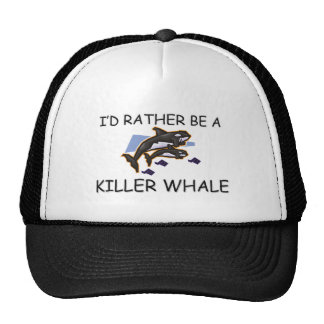 I'd Rather Be A Killer Whale Mesh Hats