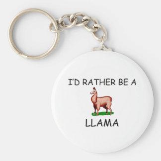 I'd Rather Be A Llama Key Ring