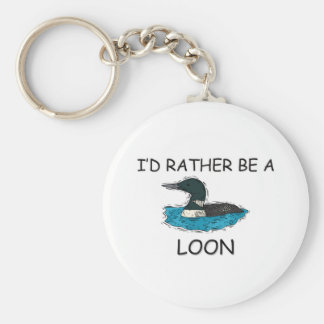I'd Rather Be A Loon Key Ring