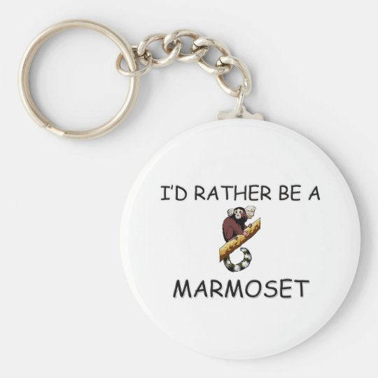 I'd Rather Be A Marmoset Key Ring