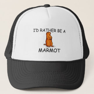I'd Rather Be A Marmot Trucker Hat