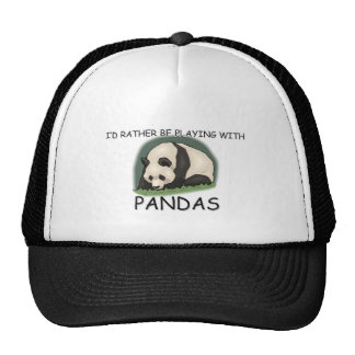 I'd Rather Be A Panda Bear Mesh Hats