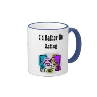 I'd Rather Be Acting w/KBP on back Ringer Mug