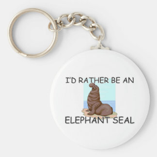 I'd Rather Be An Elephant Seal Basic Round Button Key Ring