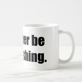 I'd Rather Be Bass Fishing Classic White Coffee Mug