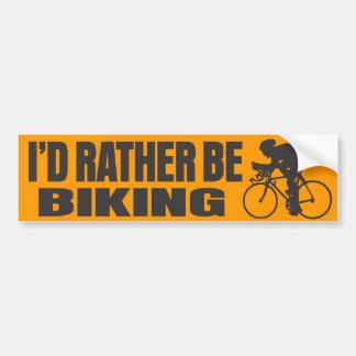 I'd Rather Be Biking Bumper Sticker