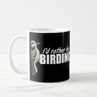 I'd Rather Be Birding Basic White Mug
