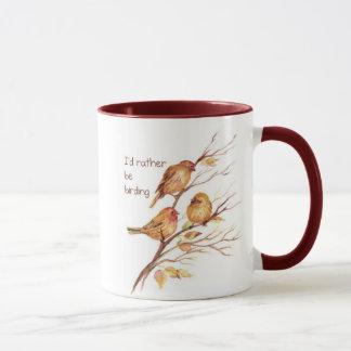 I'd Rather be Birding, Bird, Sparrows Mug