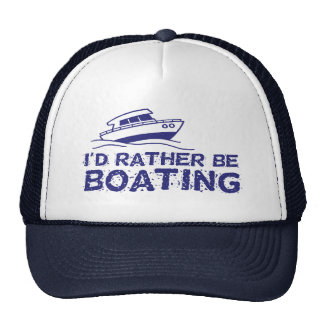 I'd Rather Be Boating Cap