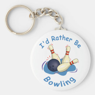 I'd Rather Be Bowling Keychain