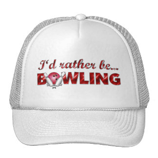I'd rather be BOWLING (Red) Cap