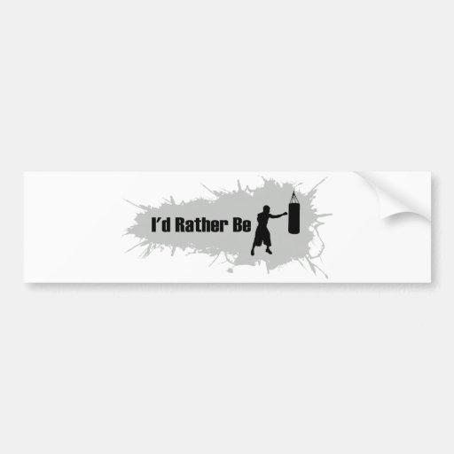 I'd Rather Be Boxing Bumper Sticker