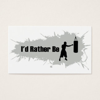 I'd Rather Be Boxing Business Card