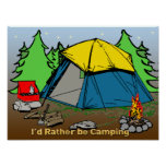 "I'd Rather Be Camping 24""x18"" Poster"