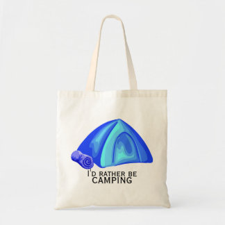 I'd rather be camping tote bags