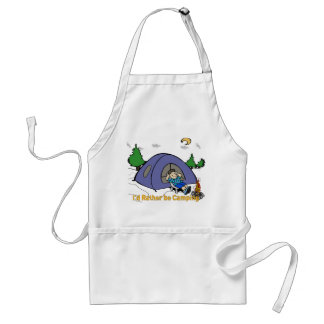 I'd Rather Be Camping - Camp Scene Apron