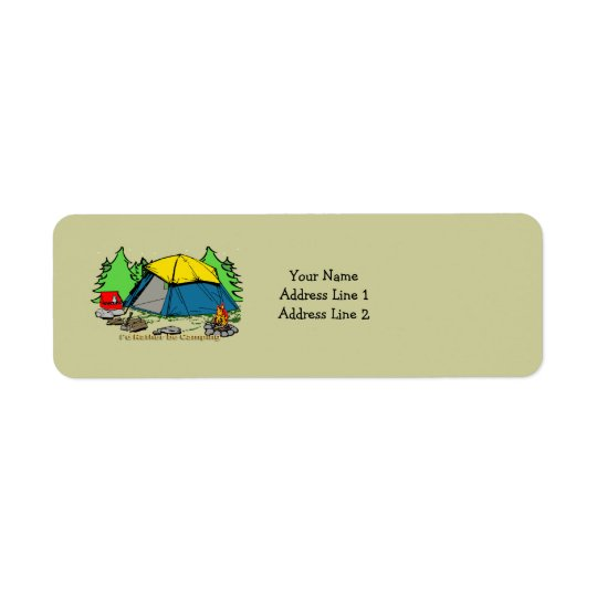 I'd Rather Be Camping Return Address Label