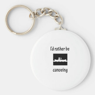 I'd Rather Be Canoeing Basic Round Button Key Ring
