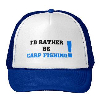 I'd rather be carp fishing trucker hat