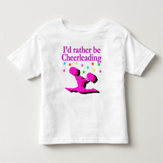 I'D RATHER BE CHEERLEADING DESIGN TSHIRT
