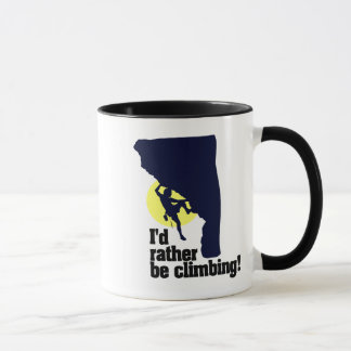 I'd rather be climbing mug! mug