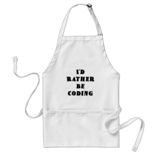 Id Rather be Coding Standard Apron