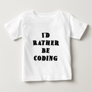 Id Rather be Coding Tshirt