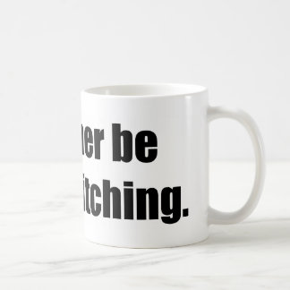 I'd Rather Be Cross Stitching Basic White Mug