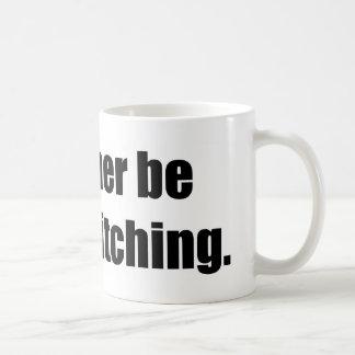 I'd Rather Be Cross Stitching Classic White Coffee Mug
