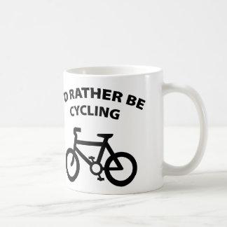 I'd Rather Be Cycling Basic White Mug
