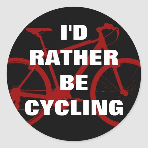 I'd rather be cycling sticker