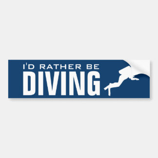 I'd rather be diving | Scuba diver bumper sticker