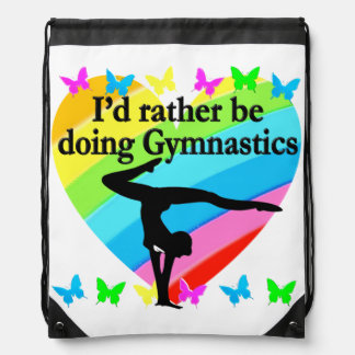 I'D RATHER BE DOING GYMNASTICS DRAWSTRING BAG