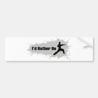 I'd Rather Be Doing Karate Bumper Sticker