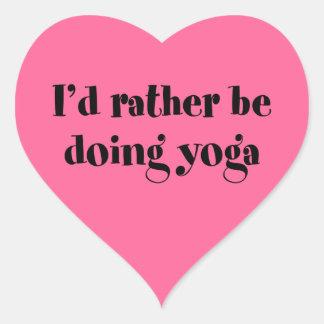 I'd Rather Be Doing Yoga Heart Sticker