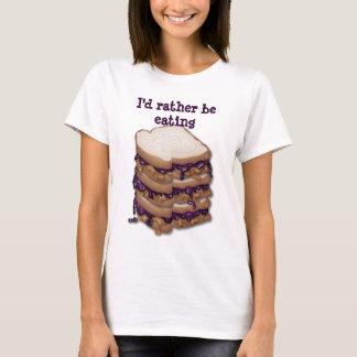I'd Rather Be Eating PBJ Sandwiches Customizable T-Shirt